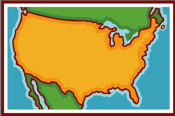 ABC Maps Of The United States Of America Flag Map Economy - Animated map of us expansion