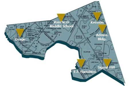 Voorhees Map