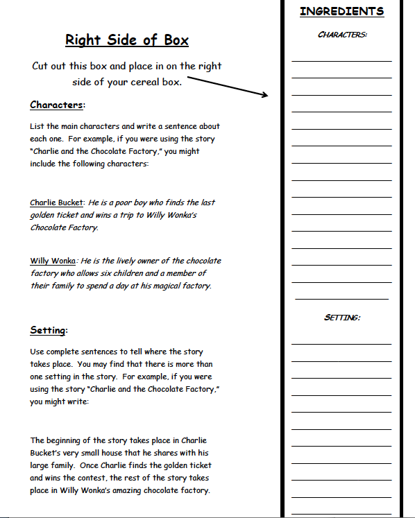 cereal box book report template. pinizzotto m marking period book report projects .  sc 1 st  Myfit.co & cereal box book report template - Myfit.co Aboutintivar.Com